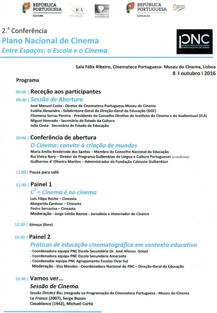 """A ESA convidada para a 2.ª Conferência do PNC """"Entre Espaços: a Escola e o Cinema"""""""