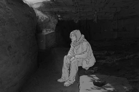 Da imagem animada |A Fossa de Wang Bing|à imagem desenhada por José Pereira e Rita Paiva