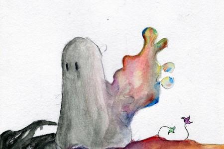 """""""Blobby""""  de Laura Stewart inspira ilustração de Ana Cardoso (11.º CT1)"""