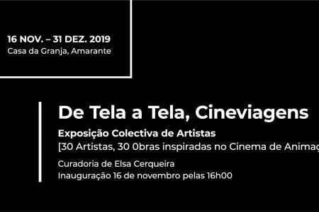 """Exposição """"De Tela a Tela, Cineviagens"""" [Convite]"""